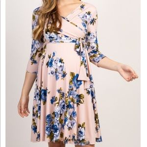 Pink Blush Maternity Floral Dress